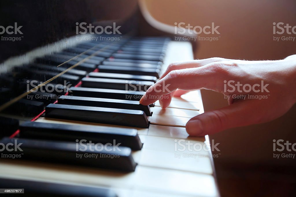 play piano stock photo