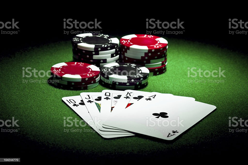 Play poker stock photo