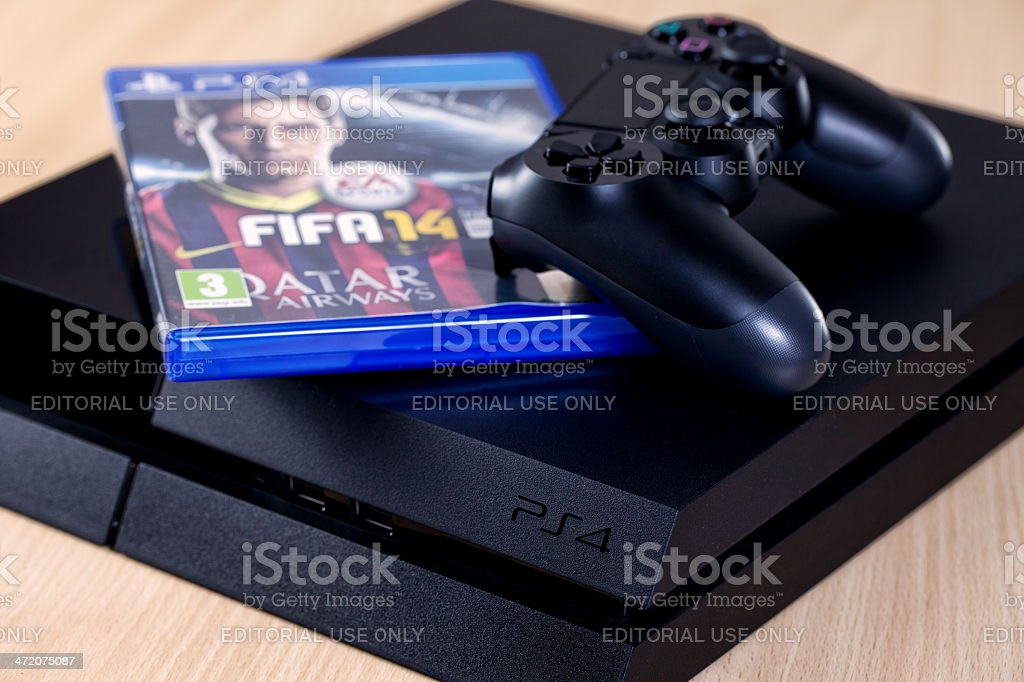 Play Station 4 stock photo