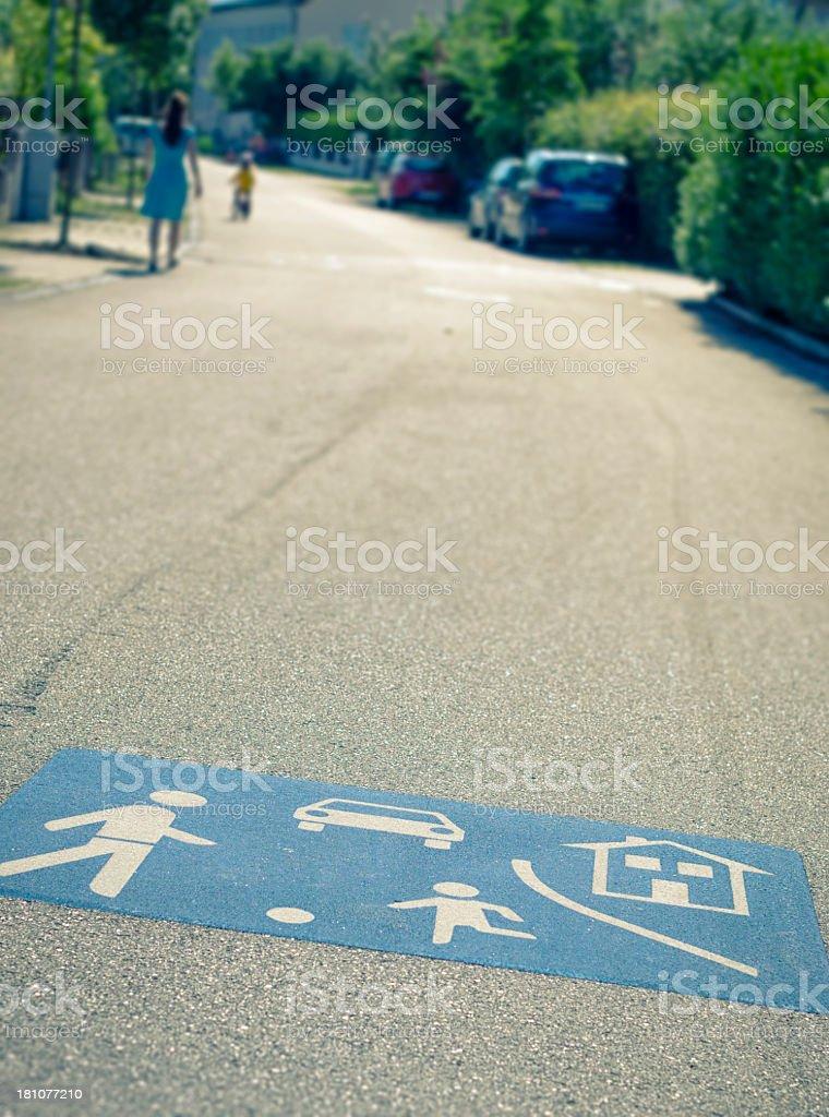 Play street / Spielstra?e stock photo