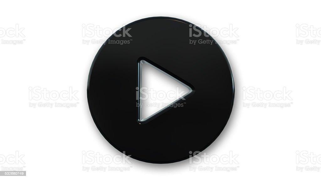 Play symbol isolated on white background stock photo