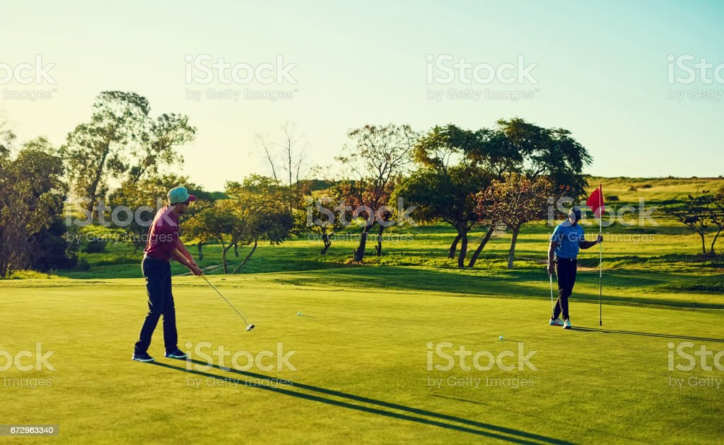 Play the course not your opponent stock photo