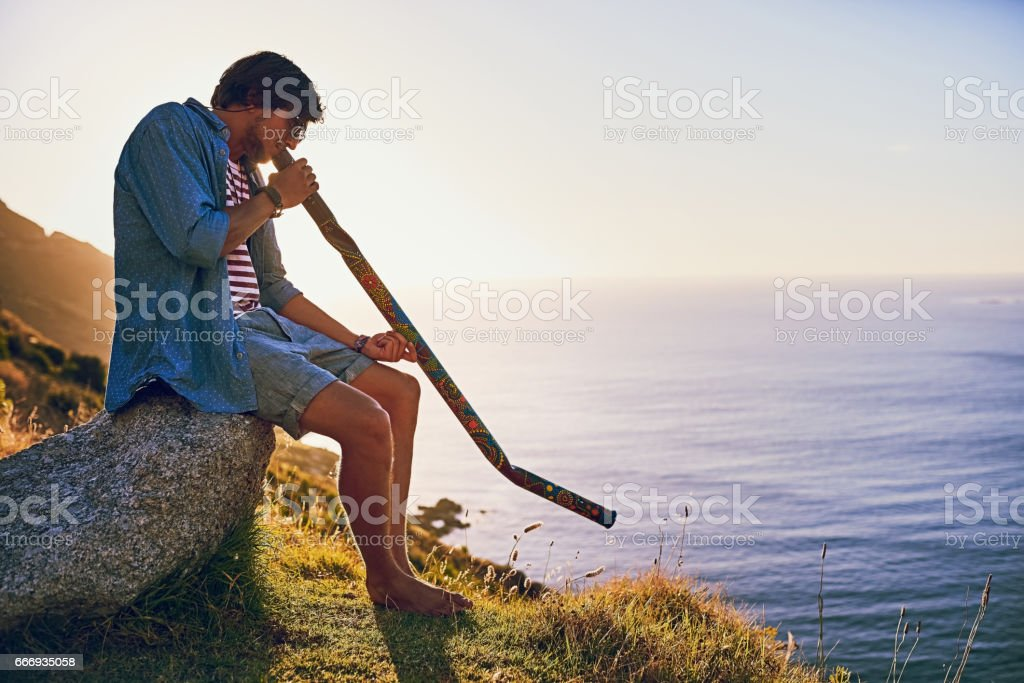 Play the song that's in your soul stock photo
