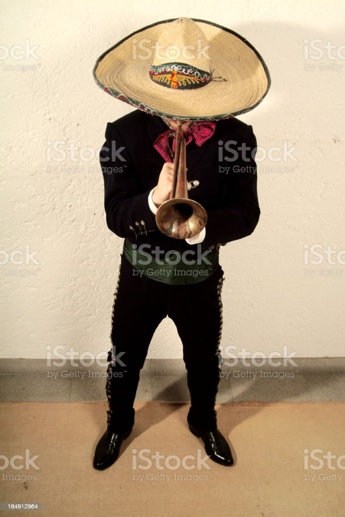 play the trumpet stock photo