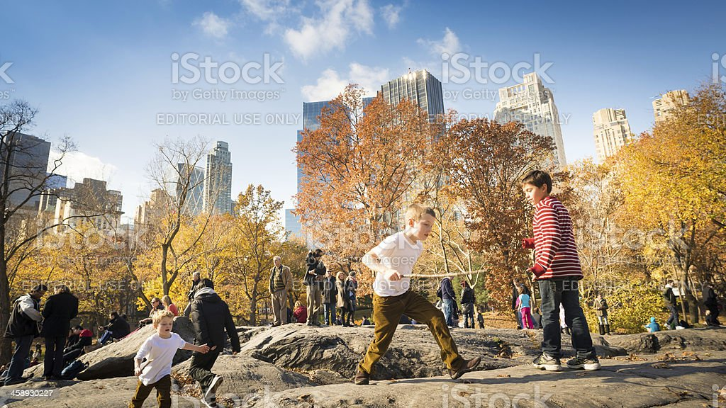 Play time Central Park New York stock photo