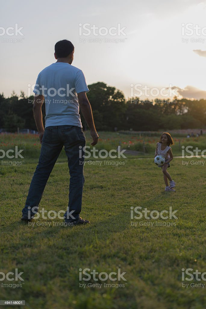 Play time with Daddy royalty-free stock photo