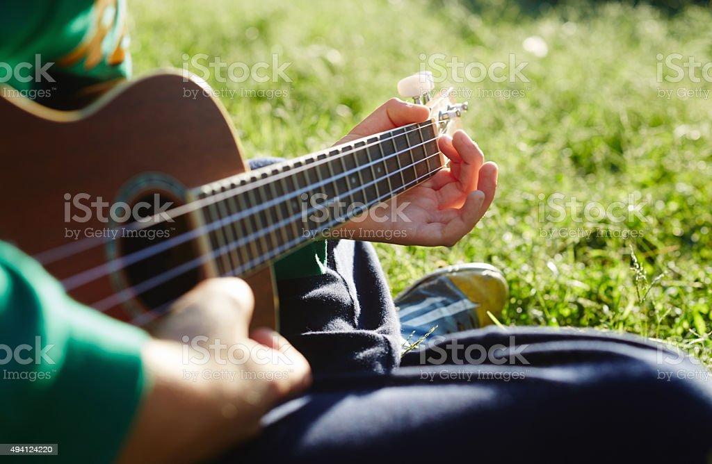 Play Ukulele stock photo