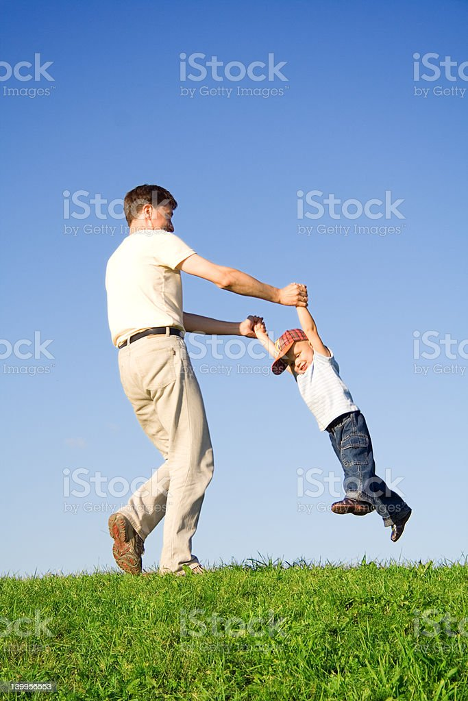 Play with father royalty-free stock photo