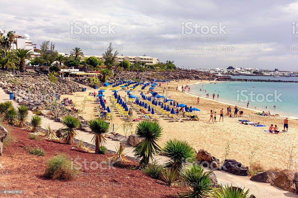 Playa Blanca, Lanzarote stock photo