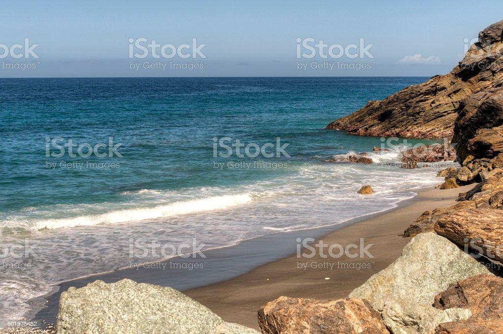 Playa Caribeña stock photo