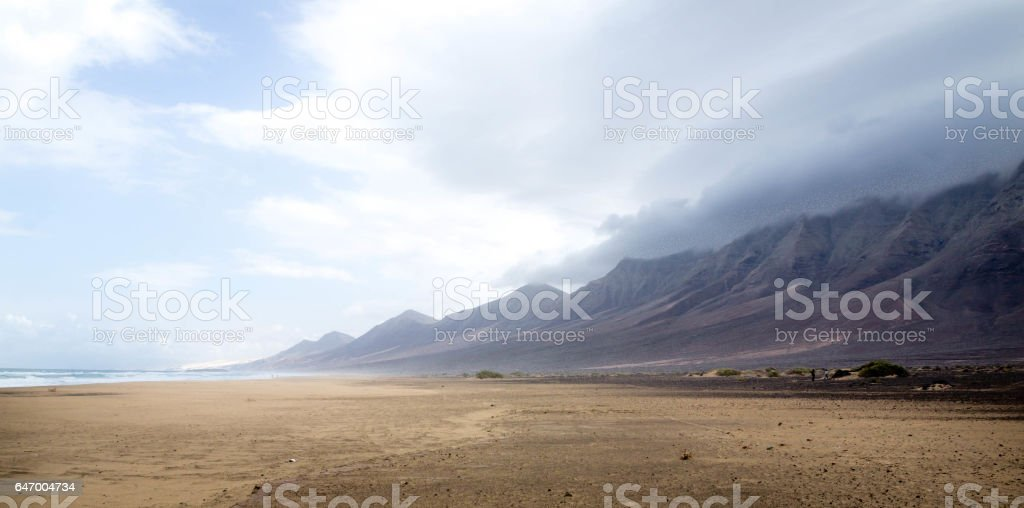 Playa de Cofete, Fuerteventura, Canary Island stock photo