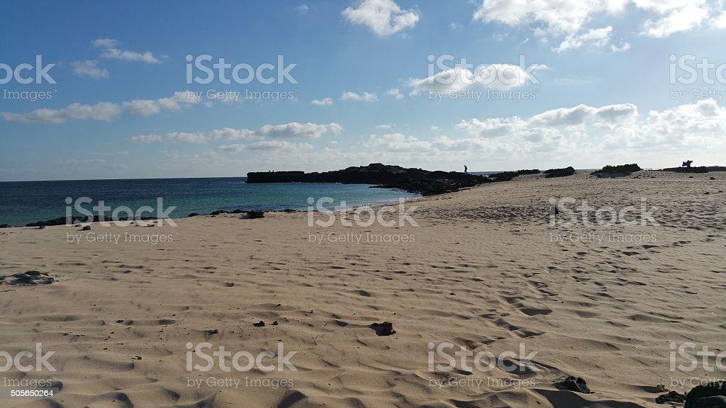 Playa de El Cotillo stock photo