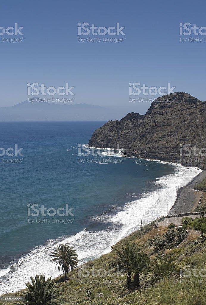 Playa de Hermigua, La Gomera foto stock royalty-free