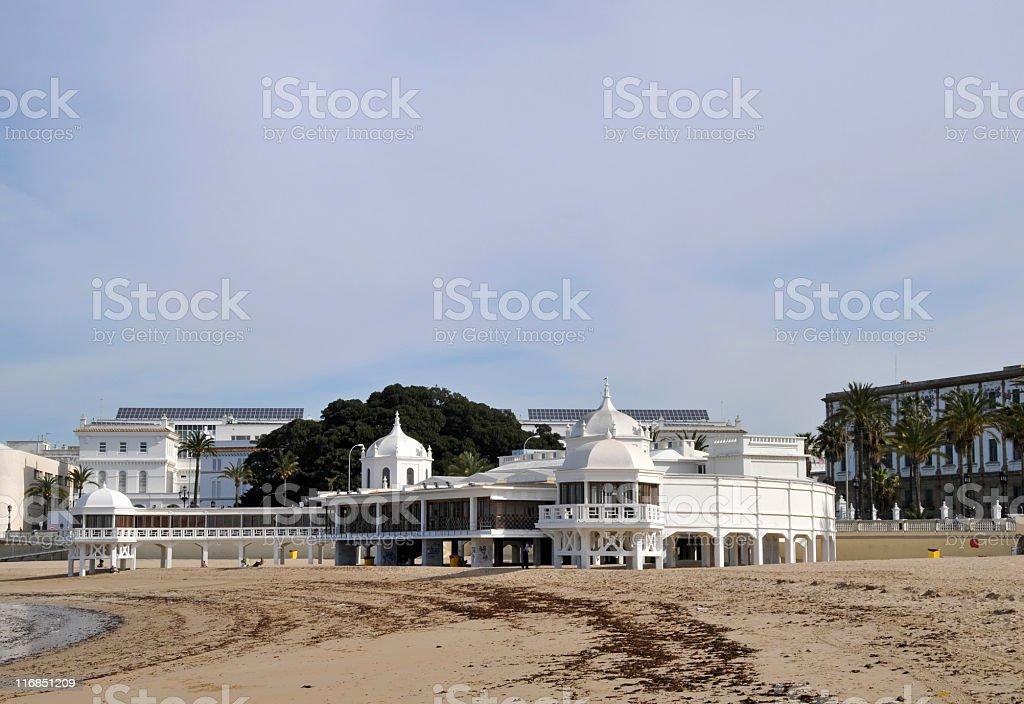 Playa de la Caleta,Cádiz royalty-free stock photo