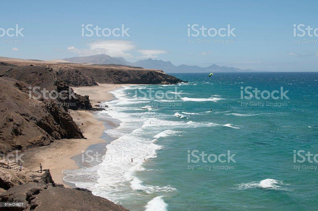 Playa de La Pared stock photo
