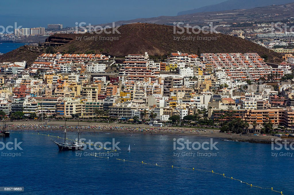 Playa de las Americas Beach stock photo