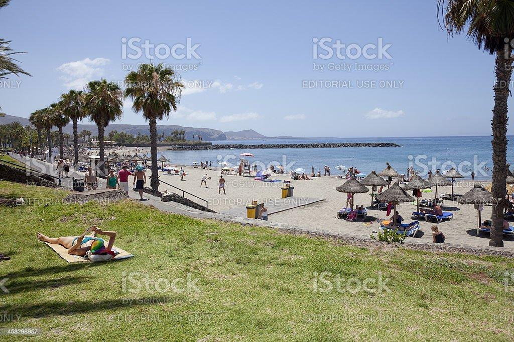 Playa de Las Americas, Tenerife Spain royalty-free stock photo