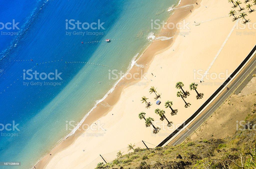 Playa de Las Teresitas - Aerial view royalty-free stock photo