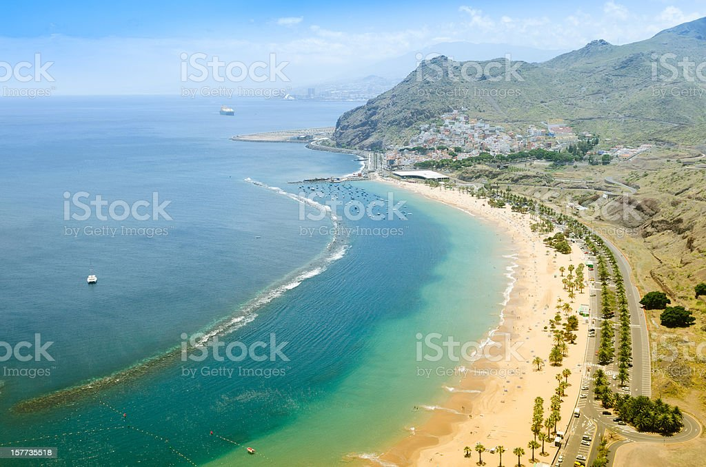 Playa de las Teresitas - Tenerife stock photo