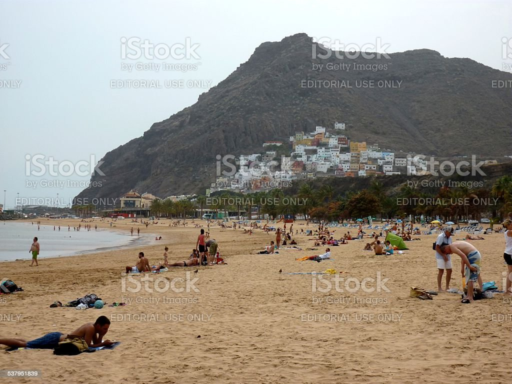 Playa de las Teresitas, Tenerife - Spain stock photo