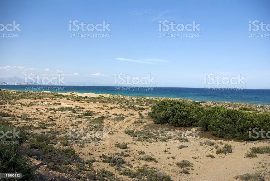 Playa de Los Arenales (Alicante), España. royalty-free stock photo