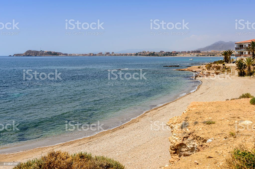 Playa De Mojon stock photo