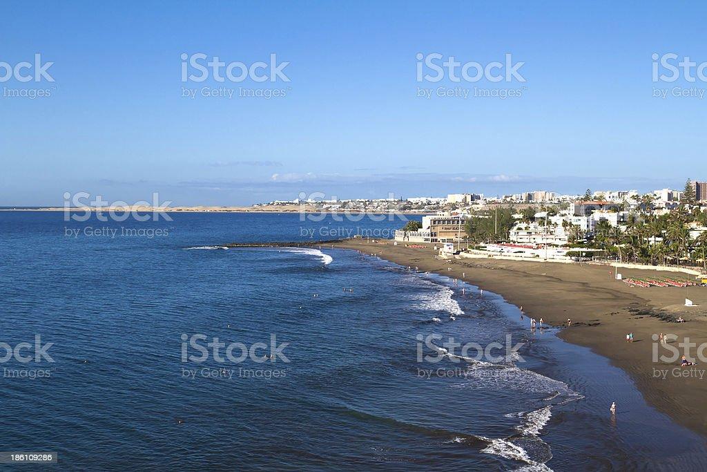 Playa de San Augustin, Gran Canaria stock photo