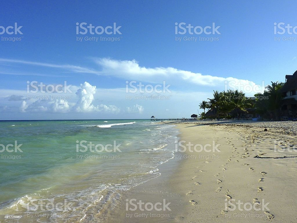Playa del Carmen Beach royalty-free stock photo