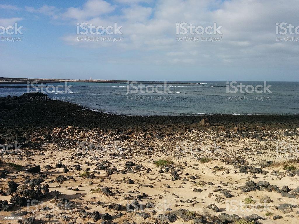 Playa del El Cotillo stock photo