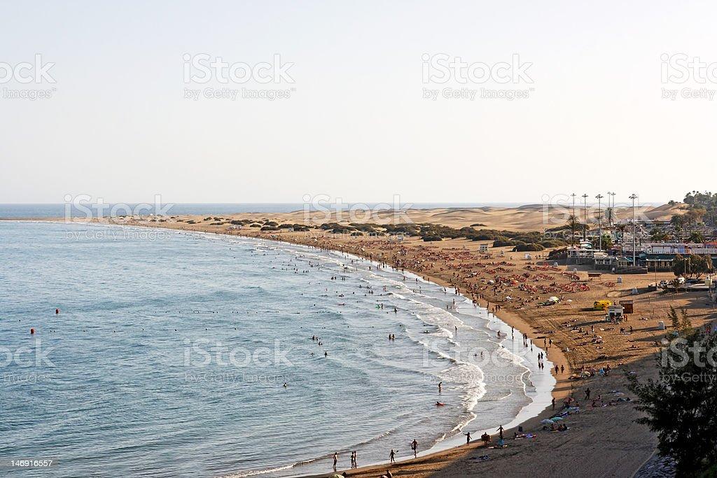Playa del ingles / Gran Canaria / Canary Islands / Spain stock photo