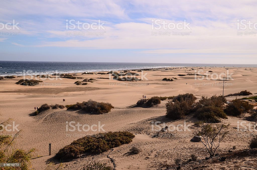 Playa del Ingles Tropical Beach stock photo