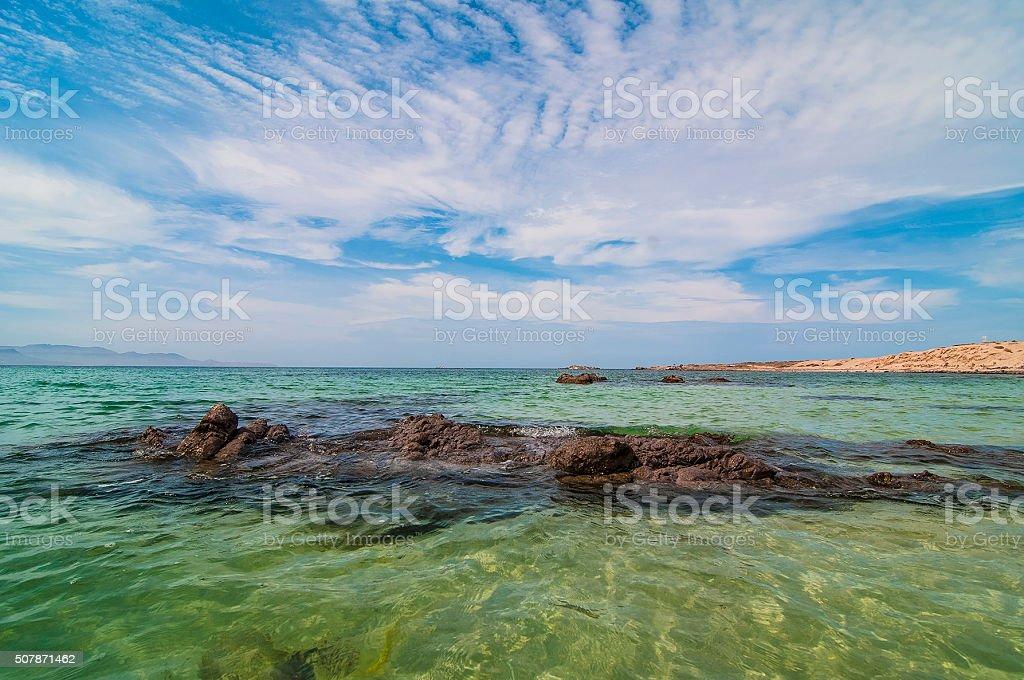 Playa el tecolote stock photo