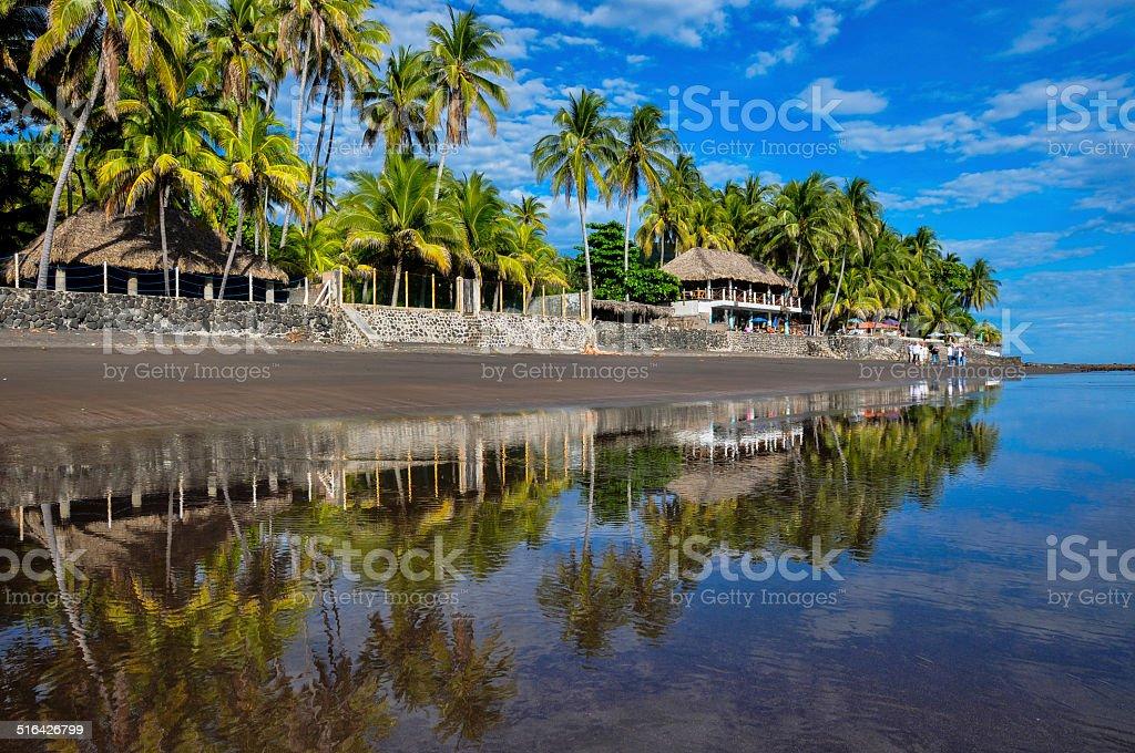 Playa El Zonte, El Salvador stock photo