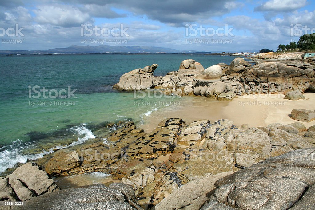 Playa en Galicia stock photo