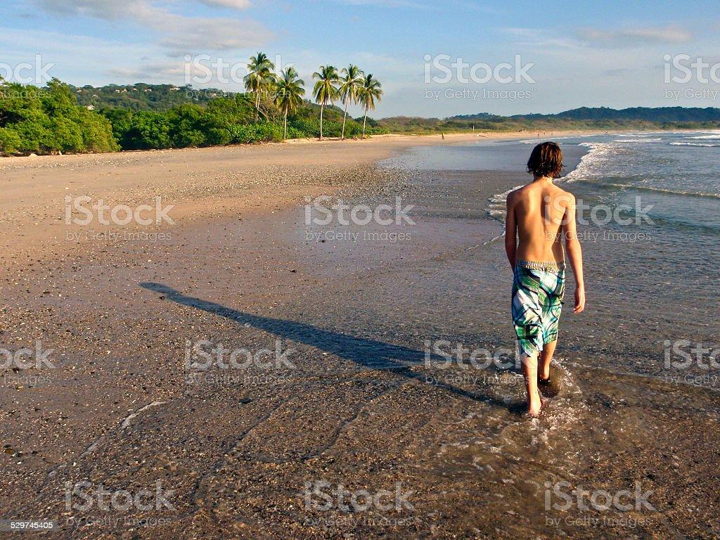Playa Guiones Beach Stroll stock photo