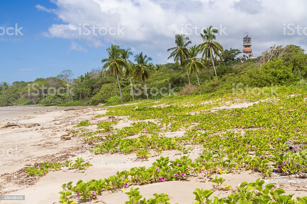 Playa Guiones Dunes and Hotel Nosara stock photo