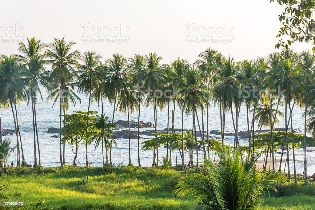 Playa hermosa en Costa Rica - pacific coast stock photo