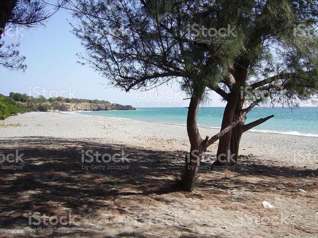Playa Imias, on the Caribbean sea. Guantanamo, Cuba stock photo