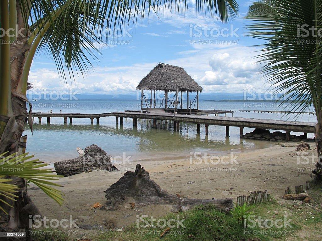 playa isla carenero, panama stock photo