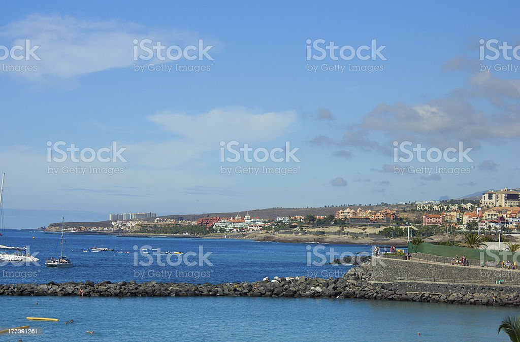 playa Las Americas, Tenerife, Spain stock photo