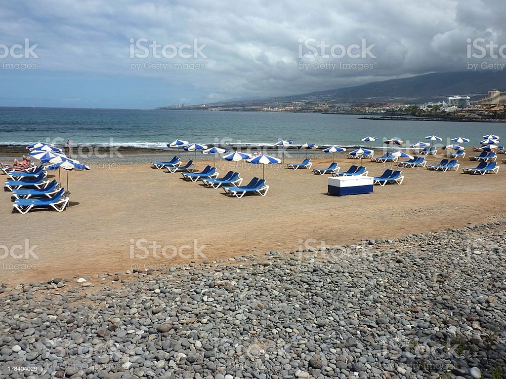Playa Las Americas waterfront, Tenerife Canarias stock photo