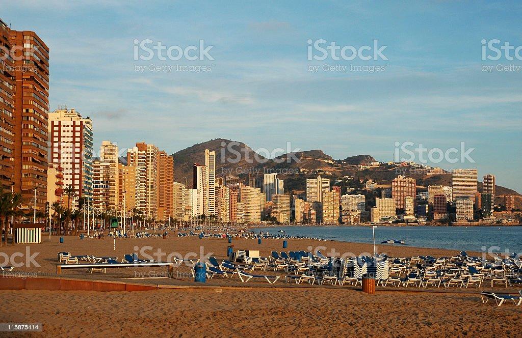 Playa Levante, Costa Blanca,Benidorm,Spain stock photo