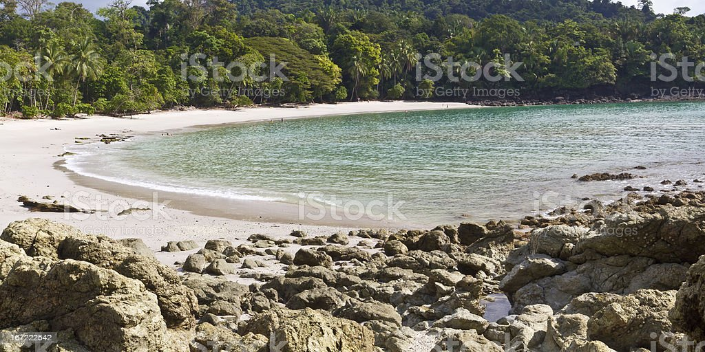 Playa Manuel Antonio Rocks and Beach royalty-free stock photo