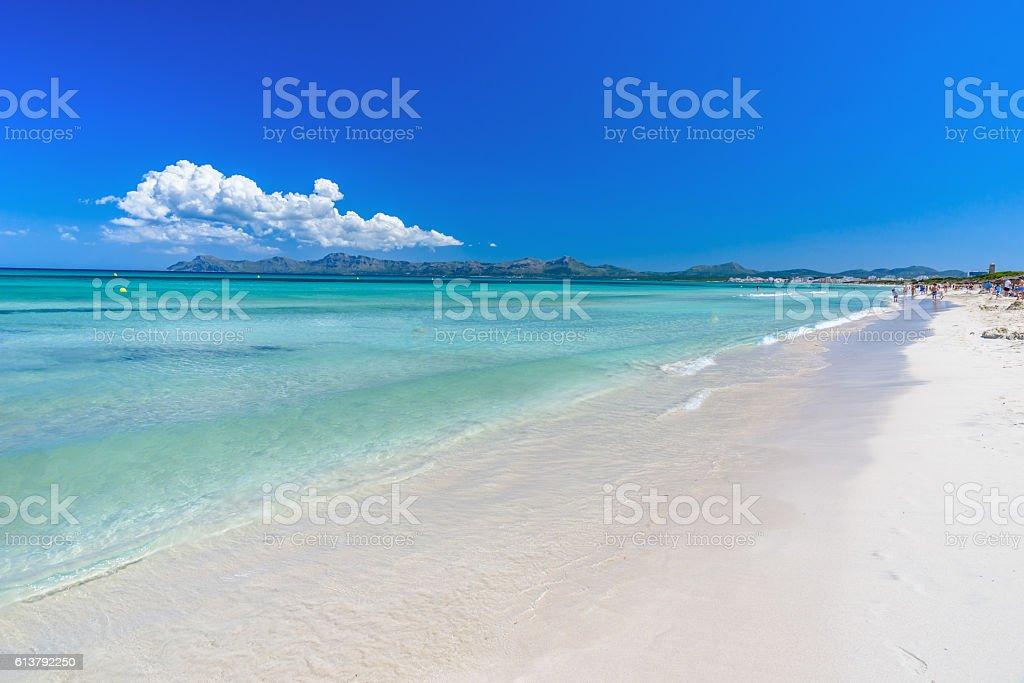 Playa Muro - Beach of Mallorca, balearic island of spain stock photo