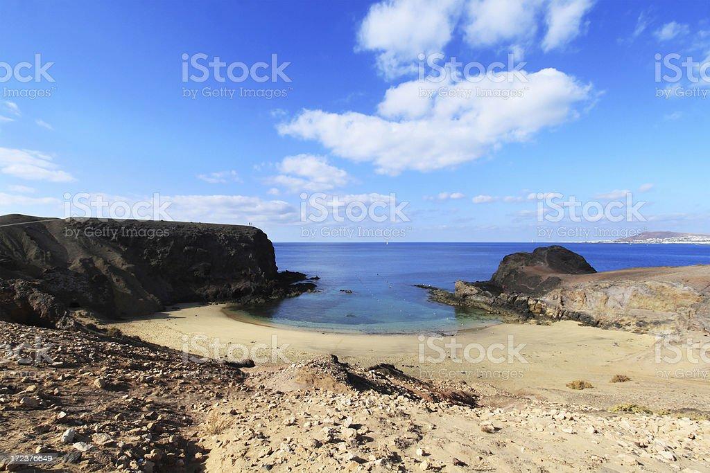 Playa Papagayo in Lanzarote, Canary Islands royalty-free stock photo