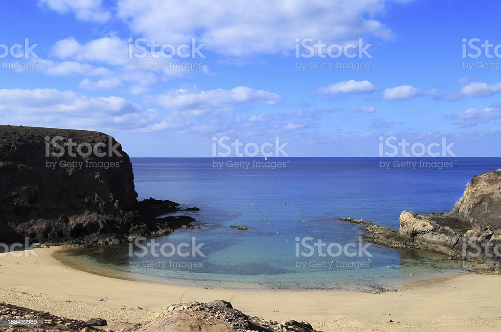 Playa Papagayo in Lanzarote, Canary Islands stock photo