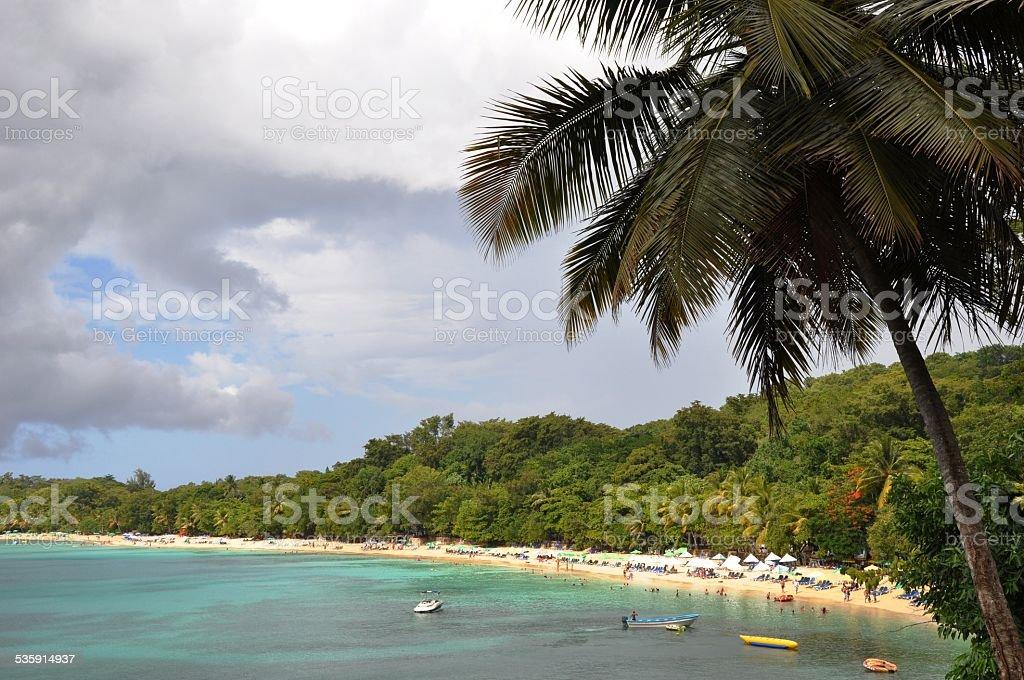 playa sosua from above stock photo