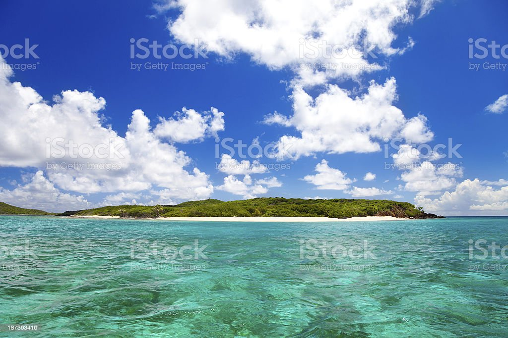 Playa Tortuga (Turtle Beach) on Isla Culebrita, Puerto Rico stock photo