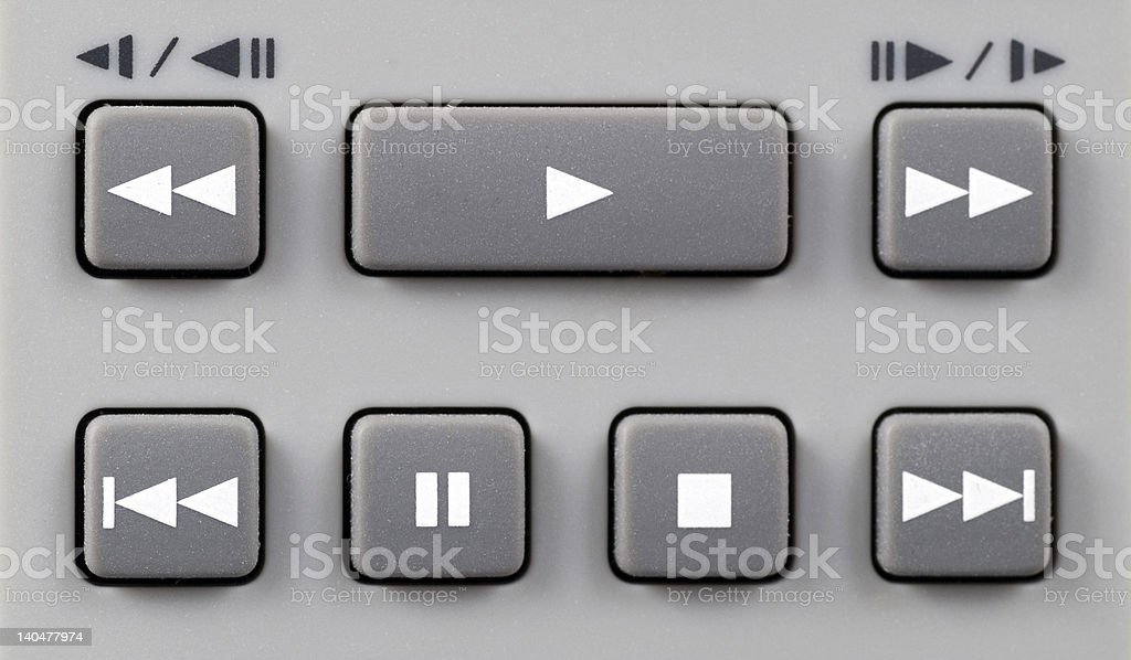 Playback control stock photo