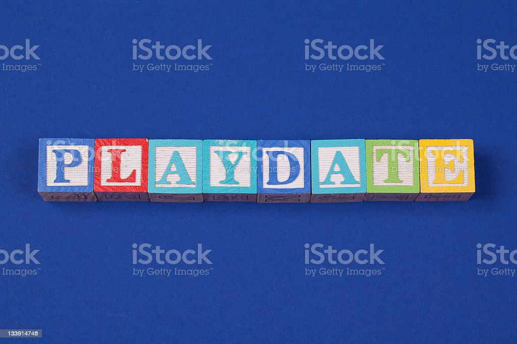Playdate royalty-free stock photo